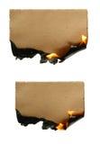 Papier brûlant Photographie stock libre de droits