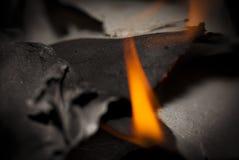 Papier brûlant Images libres de droits