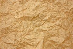 Papier brun chiffonné Image libre de droits