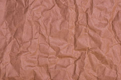 Papier brun chiffonné Photos libres de droits