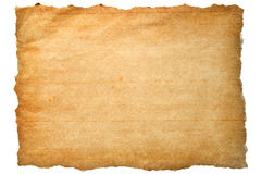 papier brun déchiré Photos stock