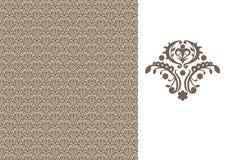 Papier-brun sans joint floral illustration de vecteur