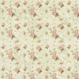 Papier chic minable de collage de fond - roses roses - romantique - féminin illustration stock