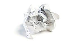 papier chiffonné photo stock