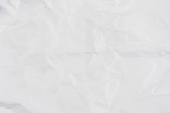Papier chiffonné blanc pour le fond Images libres de droits