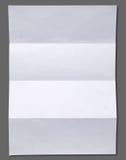 Papier chiffonné blanc vide Photographie stock libre de droits