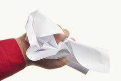 Papier chiffonné disponible Photo libre de droits
