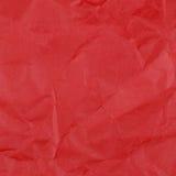 Papier chiffonné par rouge pour la texture ou le fond image libre de droits