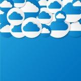 Papier chmury. Wektorowa ilustracja. Zdjęcie Stock