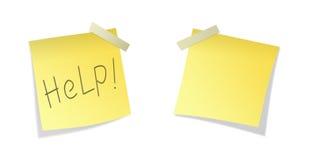 Papier collant d'isolement de deux jaunes Photographie stock libre de droits
