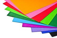 Papier coloré. Images libres de droits