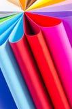 Papier coloré image stock