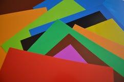 Papier coloré d'origami Photos libres de droits