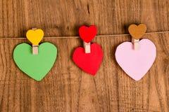 papier coloré de coeur Images libres de droits