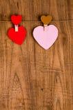 papier coloré de coeur Images stock