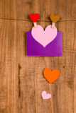 papier coloré de coeur Photos libres de droits