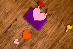 papier coloré de coeur Photo stock