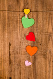 papier coloré de coeur Photos stock