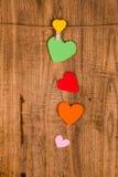 papier coloré de coeur Photos stock