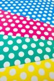 Papier coloré de métier de point Photos libres de droits