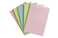 Papier coloré de PAP Photo libre de droits