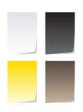 Papier coloré pour le message Illustration Stock