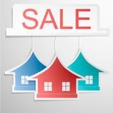 Papier-colrfull Ausgangsmodehauskarte Verkauf Stockbilder