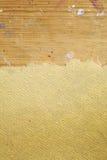 Papier cru sur le fond en bois Photo stock