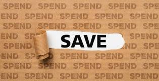 Papier déchiré - économisez ou dépensez photos libres de droits