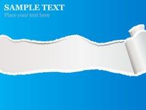 Papier déchiré bleu Photo libre de droits