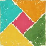Papier déchiré coloré Images libres de droits