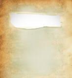 Papier déchiré, morceau de papier déchiré Images stock
