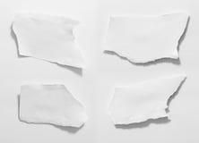 Papier déchiré, morceau de papier déchiré Images libres de droits