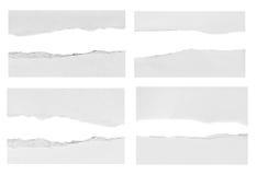 Papier déchiré, morceau de papier déchiré Photographie stock