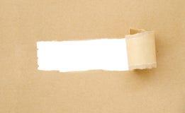 Papier déchiré par Brown Photographie stock
