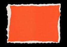 Papier déchiré rouge Images libres de droits