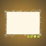 Papier déchiré sur le carton avec des boutons Image stock