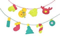 Papier d'étamine de Noël coupé sur le fond blanc Images stock