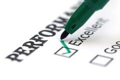 Papier d'évaluation avec le stylo images libres de droits