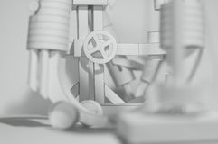Papier 3D abstrait Images libres de droits