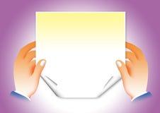 Papier d'affaires Image libre de droits