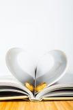 Papier d'anneau de coeur de Valentine Photo stock