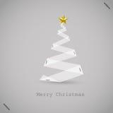Papier d'arbre de Noël avec le papier illustration stock