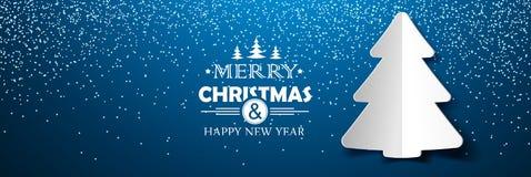 Papier d'arbre de Noël Image stock