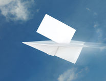 papier d'avion Images stock
