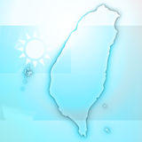 Papier 3D de carte de carte de Taïwan naturel Images stock