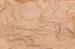Papier d'emballage chiffonné par texture de fond Images stock