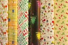 Papier d'emballage de cadeau de Noël Photos stock