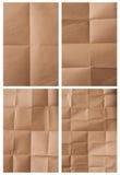 Papier d'emballage plié Images stock