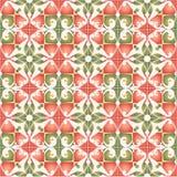 papier d'emballage vert rouge Illustration Stock